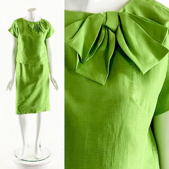 Silk Asymmetric Dress,Silk Origami Dress,Vintage S