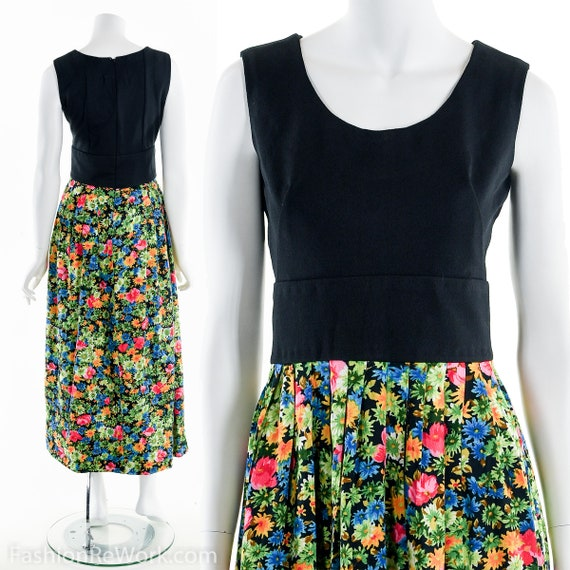60's Dress, Floral Dress, Maxi Dress, Spring Dress