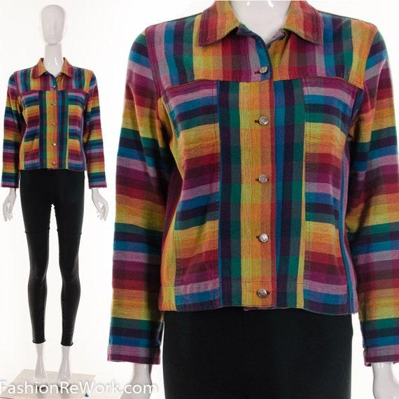 Rainbow Linen Jacket Ombre Multicolored RAINBOW Bu