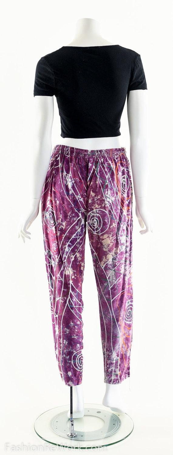 PAINT SPLATTERED Pants,Bright Abstract,High Waist… - image 4