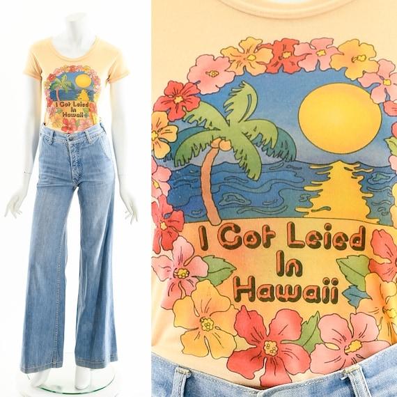 Vintage Hawaii Tshirt,I Got Leied in Hawaii Tee,Ha