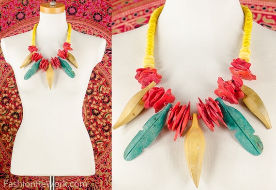 Carmen Miranda Necklace Tropical Fruit Necklace Ba