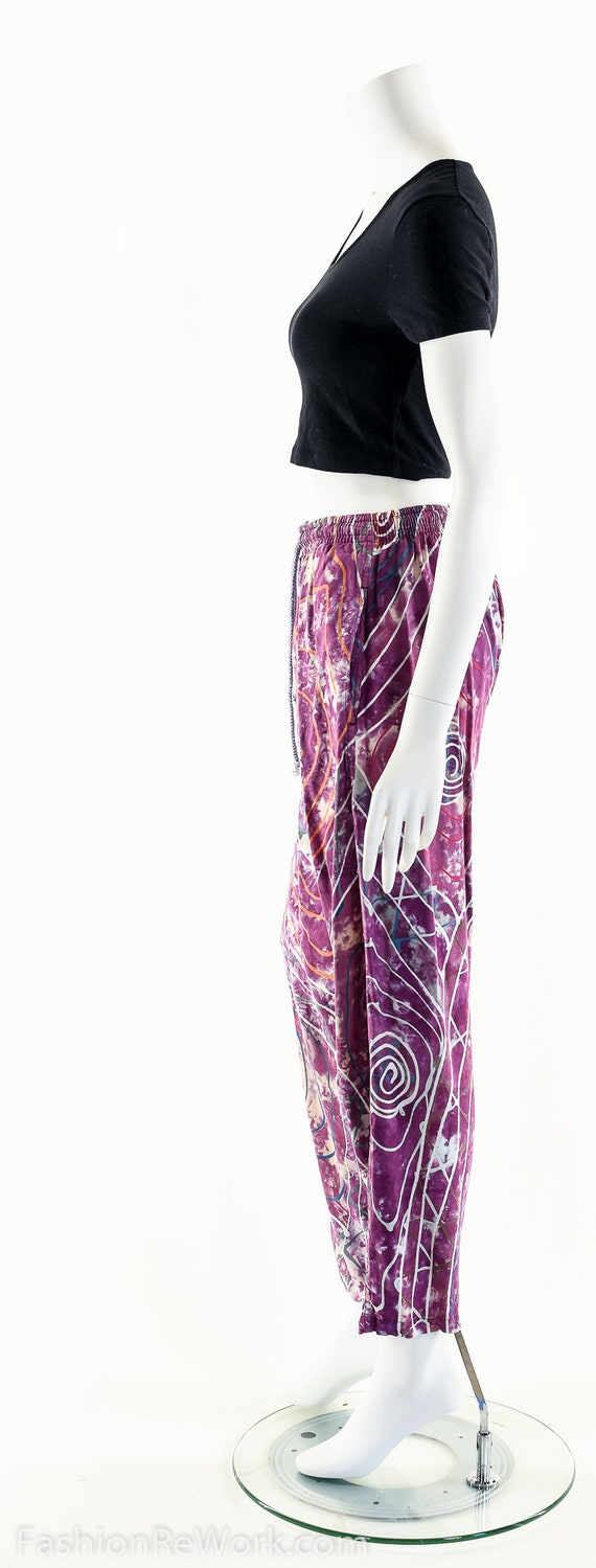 PAINT SPLATTERED Pants,Bright Abstract,High Waist… - image 6