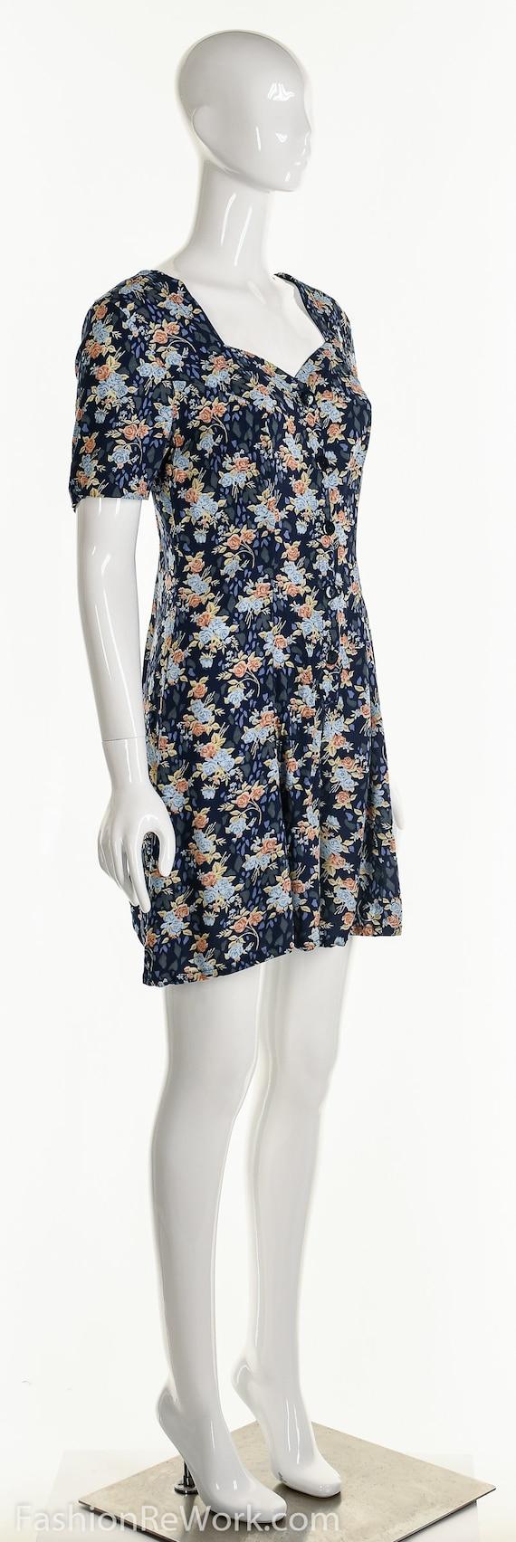 Floral Romper, Rose Romper, Rose Jumpsuit, Blue J… - image 3
