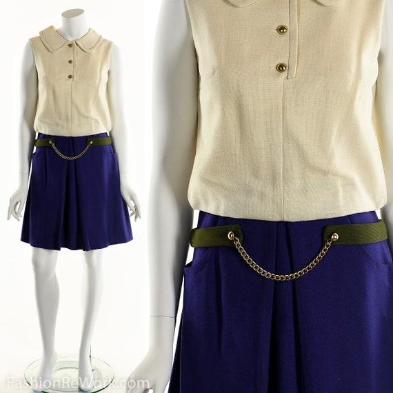 Peter Pan Collar Dress, Twiggy Dress, Mod Dress, C