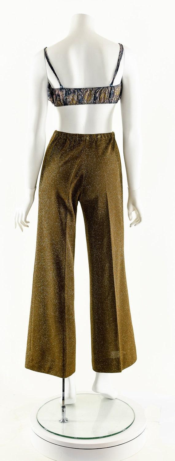 Metallic Lurex Jumpsuit,Vintage Metallic Set,Spar… - image 7