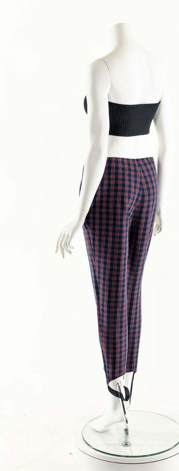 Plaid High Waist Pants,Vintage 80's Pants,Preppy … - image 8
