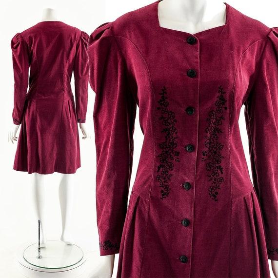 Laura Ashley Dress,Victorian Red Dress,Victorian I