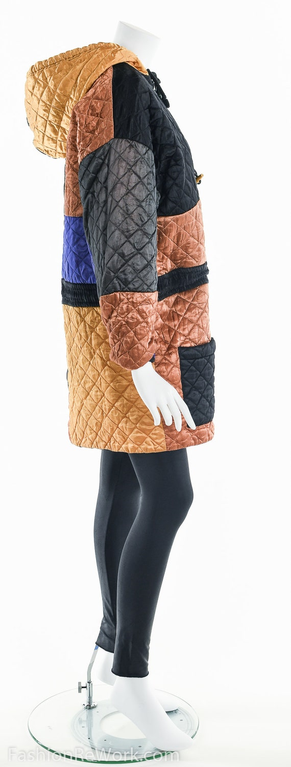 Quilted Jacket, Quilted Hoodie Jacket, Colorblock… - image 6