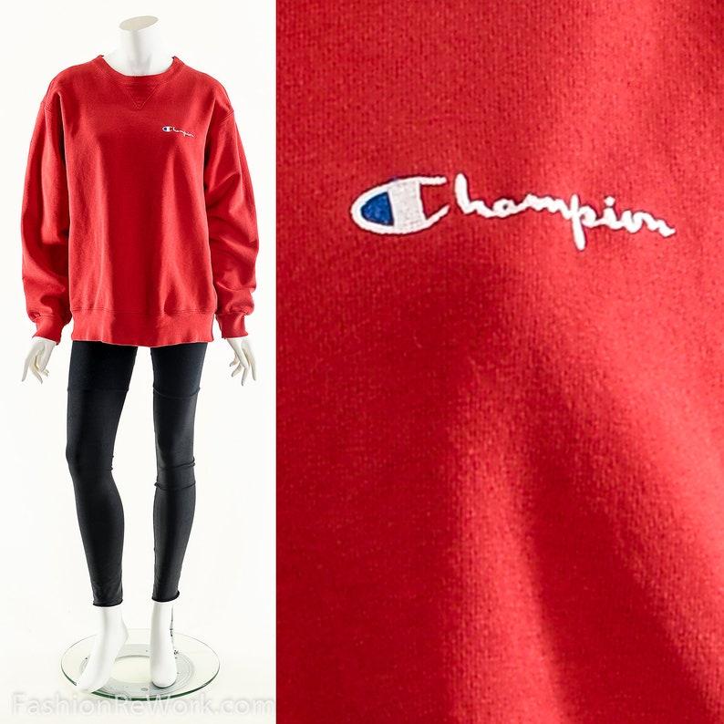 Champion Sweatshirt Red Champion Sweater Vintage Champion image 0