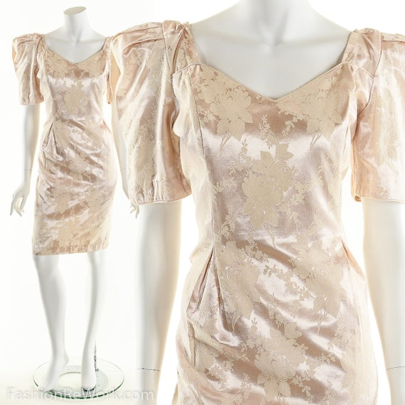 PInk Dress, PInk Brocade Dress, Brocade Dress,Scu… - image 6