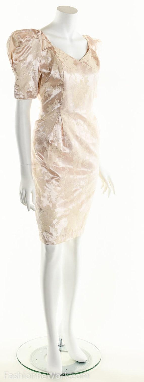 PInk Dress, PInk Brocade Dress, Brocade Dress,Scu… - image 7