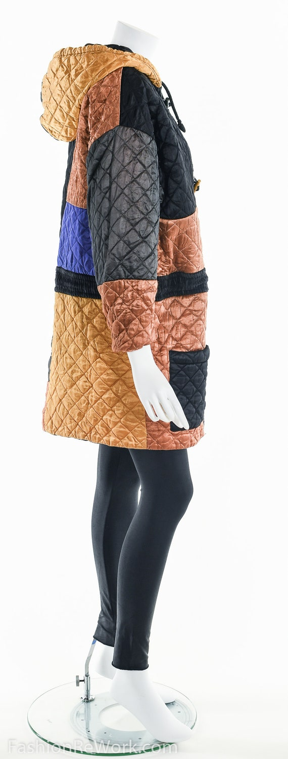 Quilted Jacket, Quilted Hoodie Jacket, Colorblock… - image 9