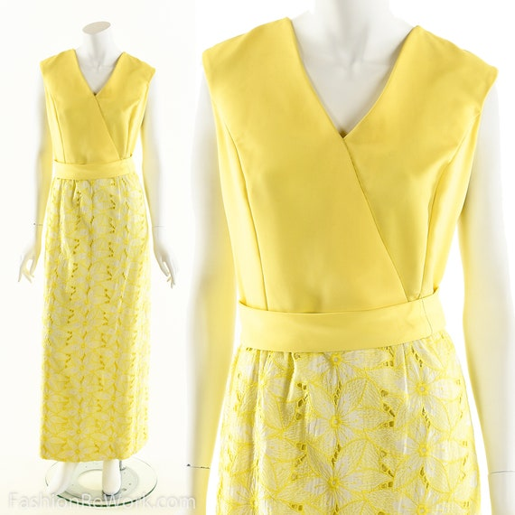 Yellow Daisy Dress,Daisy Lace Dress,Sunny Yellow D