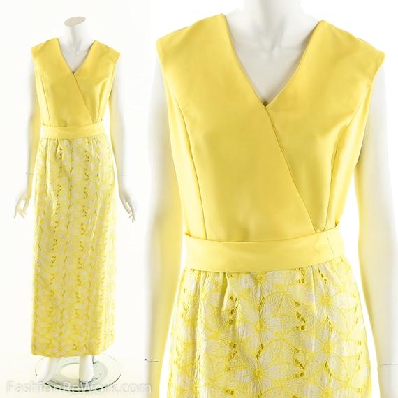 Yellow Daisy Dress,Daisy Lace Dress,Sunny Yellow … - image 1