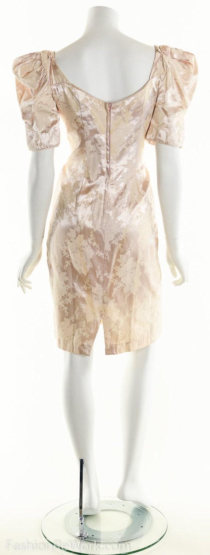 PInk Dress, PInk Brocade Dress, Brocade Dress,Scu… - image 4