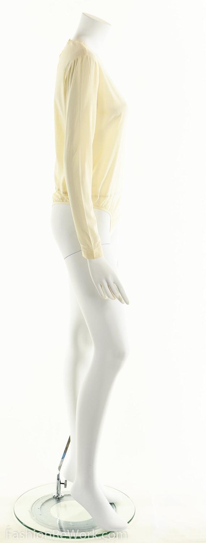 Donna Karan Bodysuit, Cream White Bodysuit, Silk … - image 5