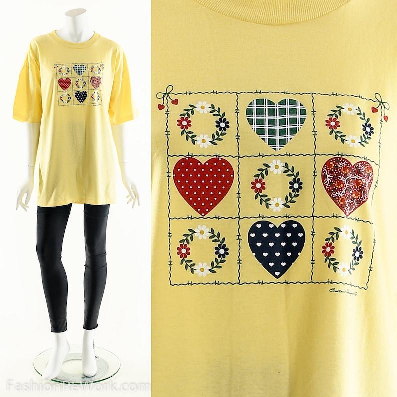 Heart T-Shirt Vintage Heart TeePatriotic American image 0