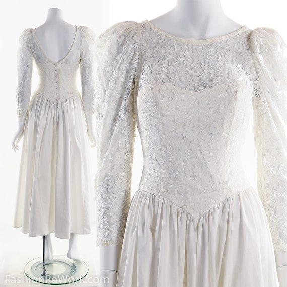 LAURA ASHLEY Wedding Dress, Vintage Laura Ashley W