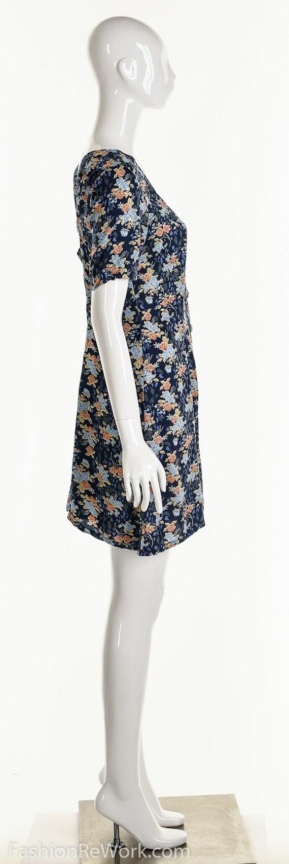 Floral Romper, Rose Romper, Rose Jumpsuit, Blue J… - image 5