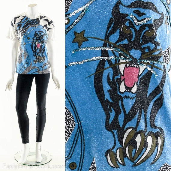 Fierce Jaguar T-Shirt, Lightening Bolt Star T-Shir