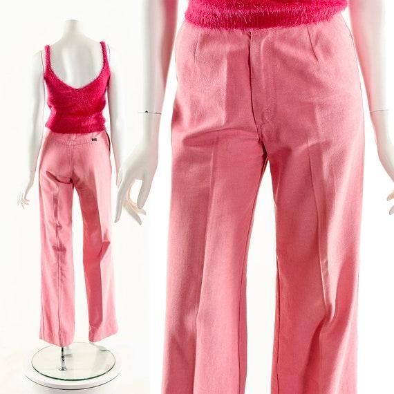 Pink Bell Bottoms,Vintage Coral Bellbottoms,70s Wr