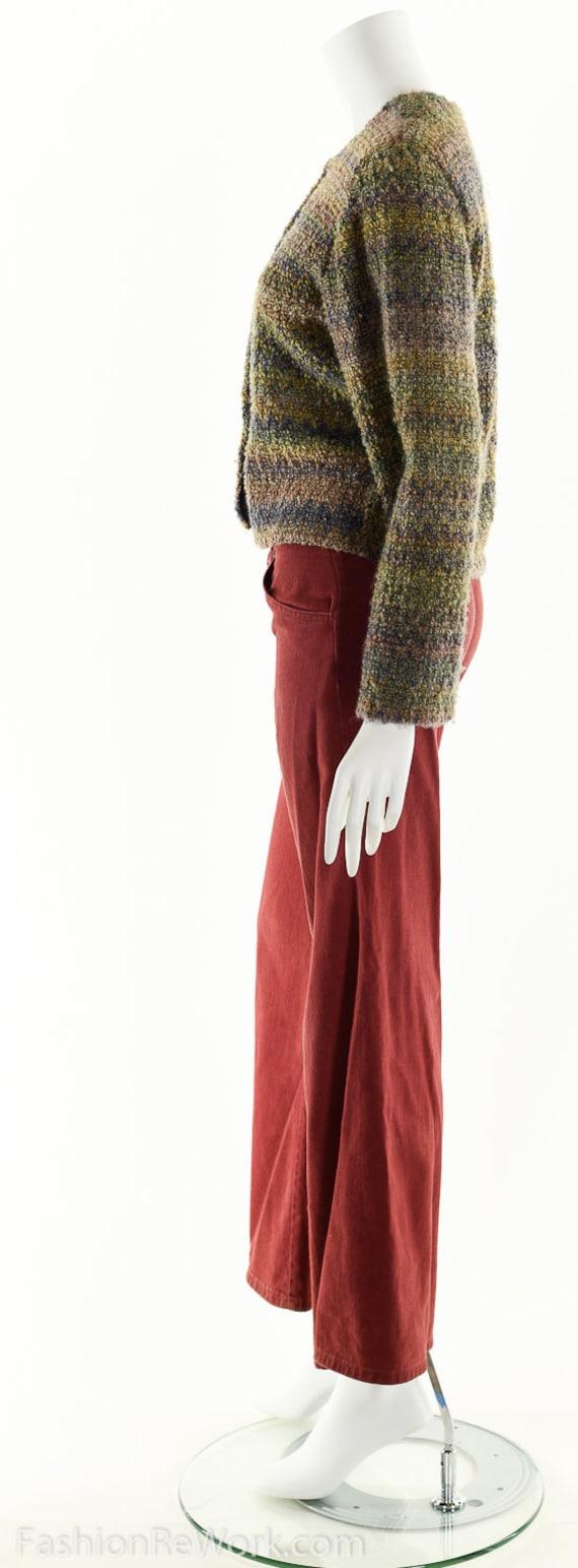 Hand Knit Sweater Jacket, Cropped Sweater Jacket,… - image 5