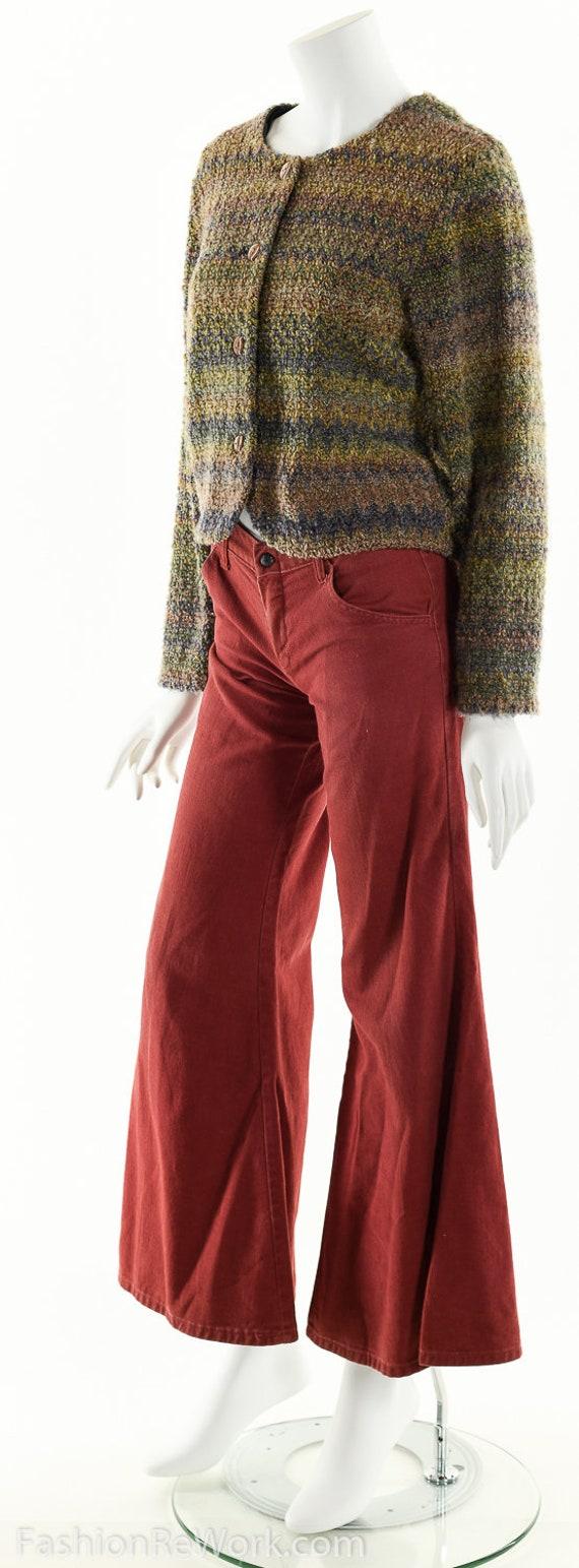 Hand Knit Sweater Jacket, Cropped Sweater Jacket,… - image 6