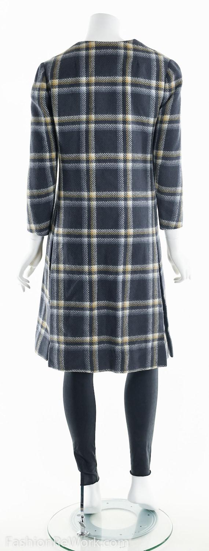 Plaid Wool Coat, Double Breasted Coat, 60's Coat,… - image 6