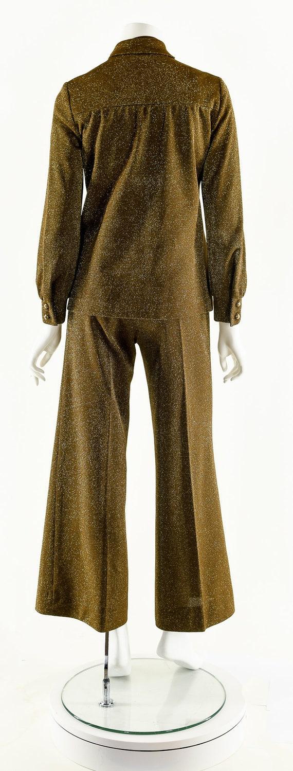 Metallic Lurex Jumpsuit,Vintage Metallic Set,Spar… - image 3
