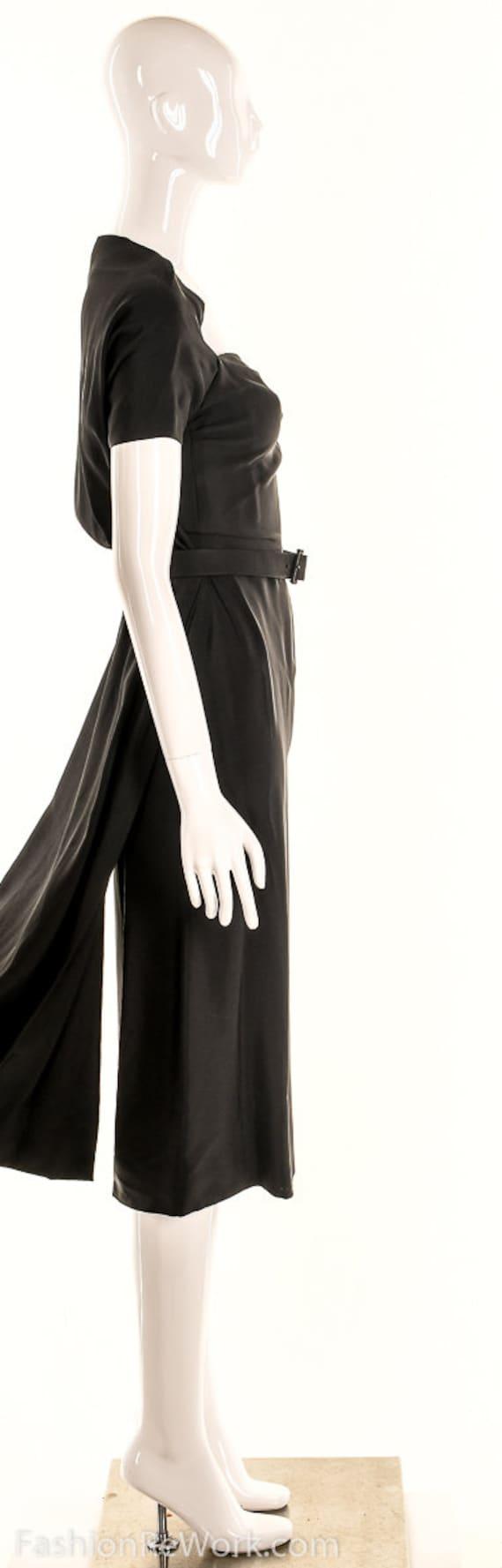 Vintage 40s Black Pencil Dress,40s Va Va Voom Dre… - image 6