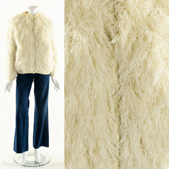 Arissa Shag Coat, Vintage Arissa White Shag Jacket