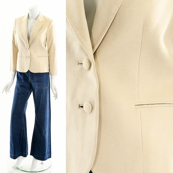 Suede Leather Blazer,Minimalist Suede Blazer,Class