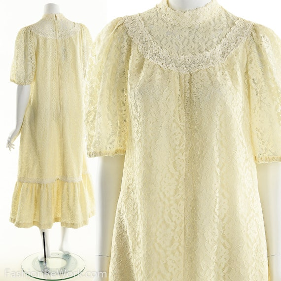 Victorian Inspired Dress,Lace Prairie Dress,Vintag