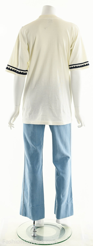 Patchwork T-Shirt, Vintage Patchwork Tee, Tropica… - image 6