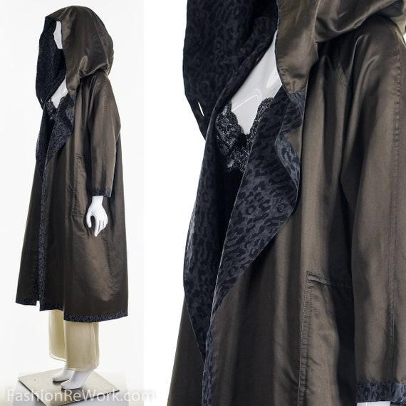 Reversible Leopard Rain Jacket, Designer Reversib… - image 10