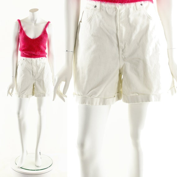 Vintage Denim Shorts,LA Blues Shorts,White Denim … - image 1