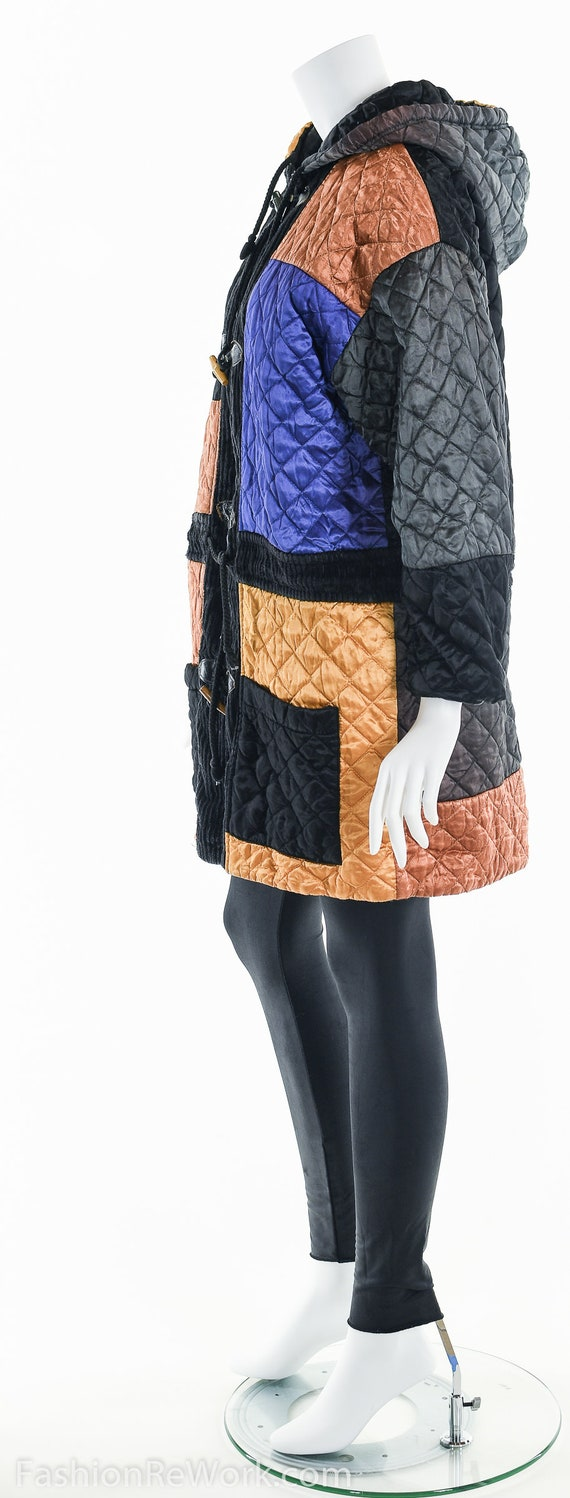 Quilted Jacket, Quilted Hoodie Jacket, Colorblock… - image 10