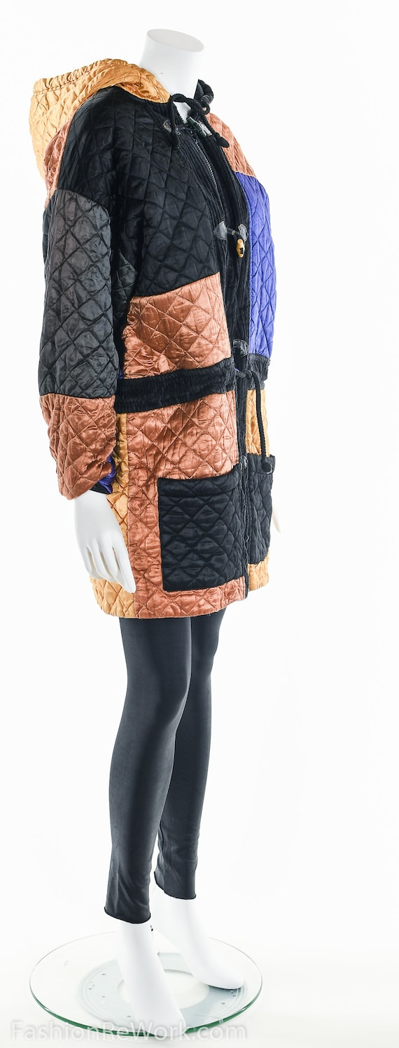 Quilted Jacket, Quilted Hoodie Jacket, Colorblock… - image 5