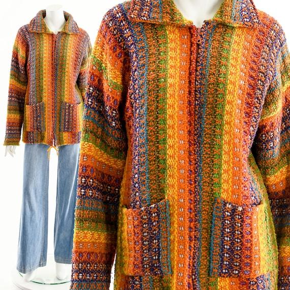 Rainbow Melange Sweater,Rainbow Sweater Cardigan,R
