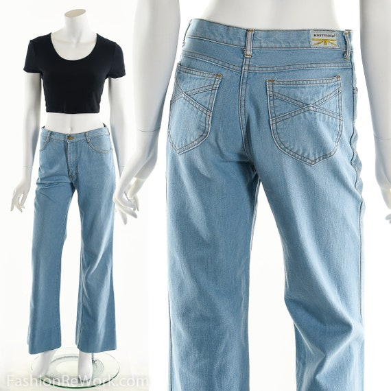 Denim Bell Bottoms, Brittania bell bottoms, Vintag