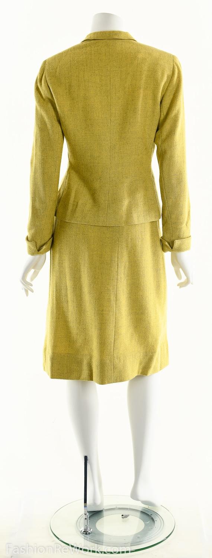 40's suit,vintage 1940's suit, yellow suit, skirt… - image 6