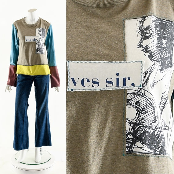 Line Art Tee,Line Art Tshirt,Long Sleeve Top,Texti