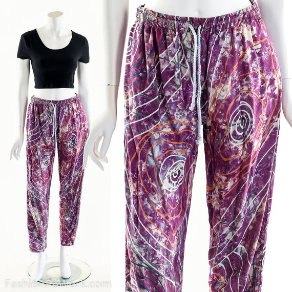 PAINT SPLATTERED Pants,Bright Abstract,High Waist… - image 3
