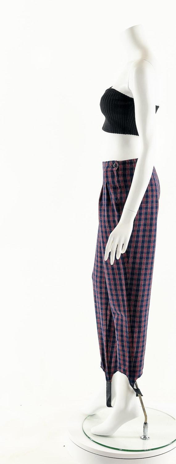 Plaid High Waist Pants,Vintage 80's Pants,Preppy … - image 9