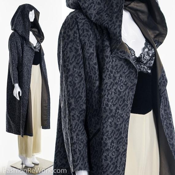 Reversible Leopard Rain Jacket, Designer Reversib… - image 2
