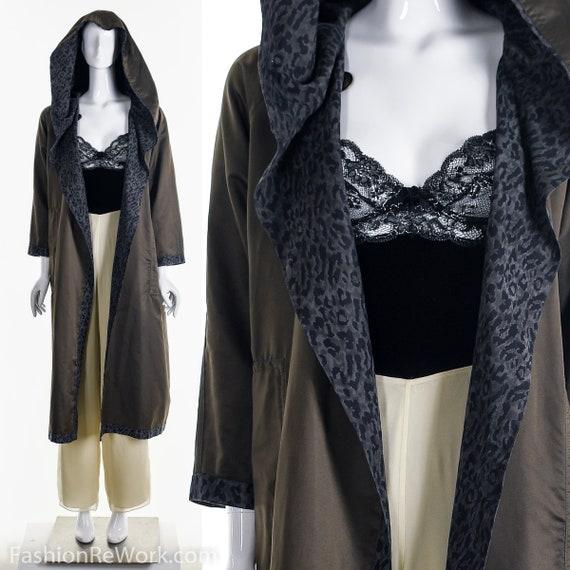 Reversible Leopard Rain Jacket, Designer Reversib… - image 7