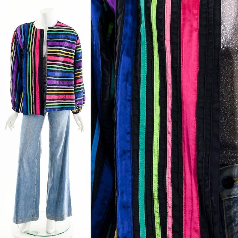 RAINBOW RIBBON JacketTachi Castillo JacketAsymmetric Rainbow image 0