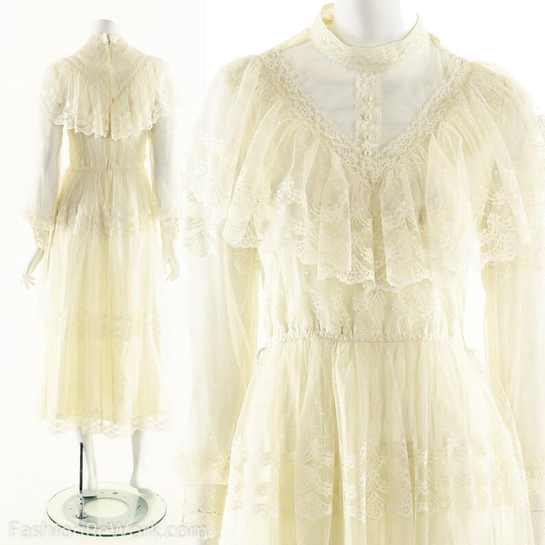 Victorian Inspired DressGunne Sax Style Dress70s Prairie image 0