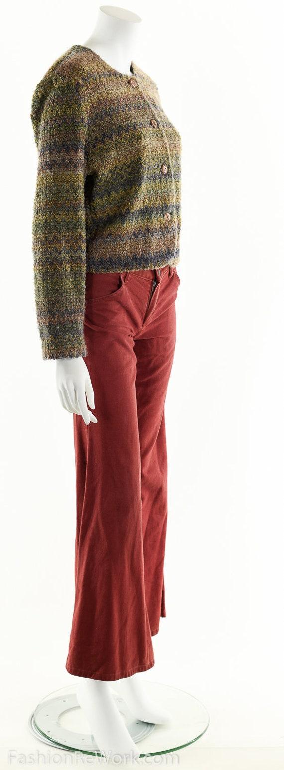 Hand Knit Sweater Jacket, Cropped Sweater Jacket,… - image 3